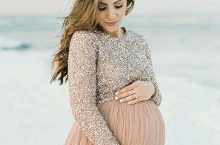 صورة صور فساتين للحوامل , احدث المودلات الخاصة بلبس الحوامل