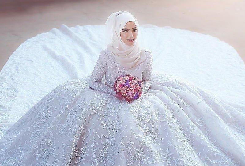 صورة صور عرايس محجبات , عرايس جميلة محجبة بالصور